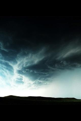 竜巻 黒い雲 危険な天気 640x960 Iphone 4 4s 壁紙 背景 画像