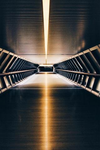 iPhone Wallpaper Tunnel, underground, light
