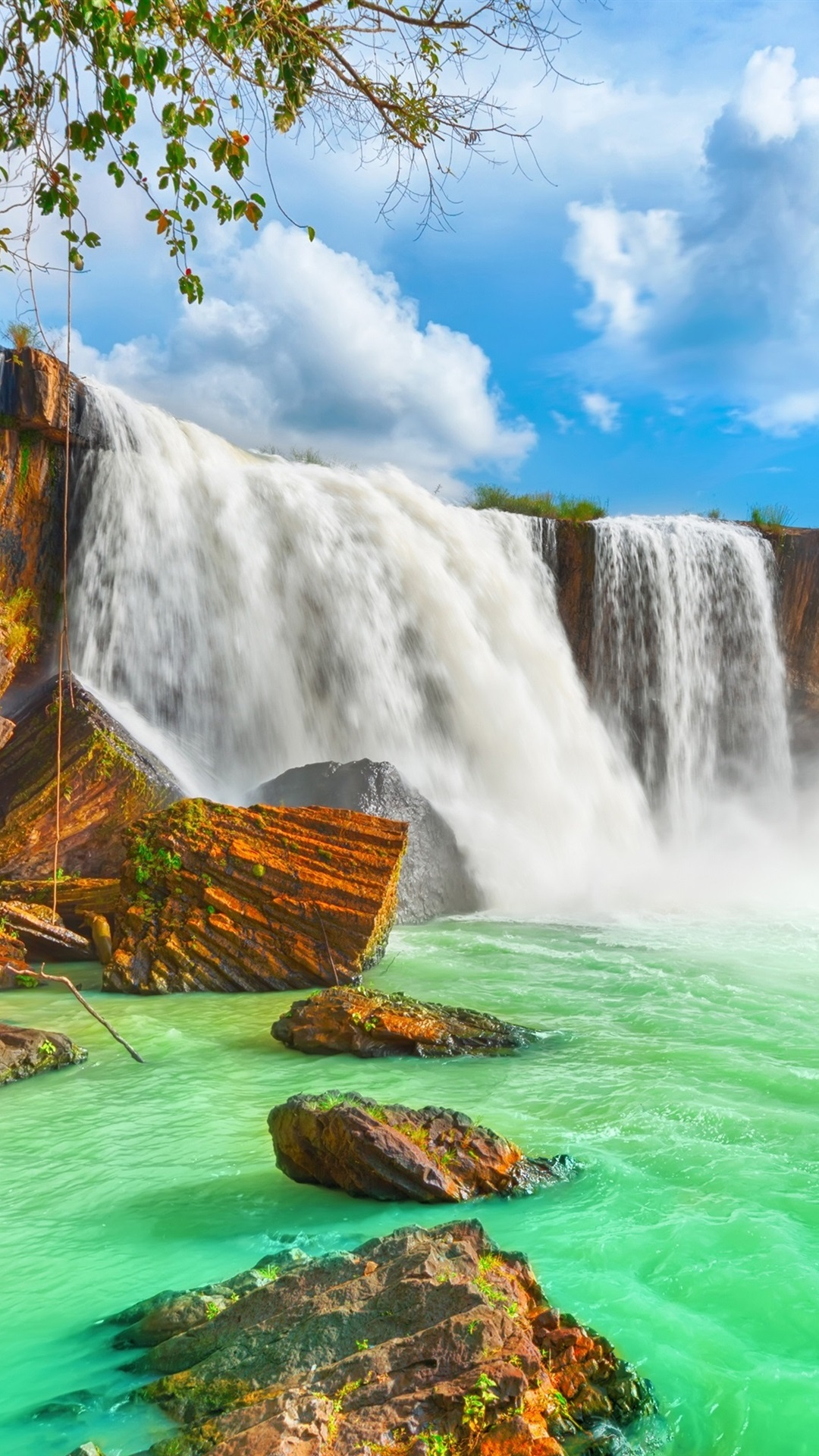Wallpaper Vietnam, Dray Nur waterfall, beautiful nature landscape 3840x2160 UHD 4K Picture, Image