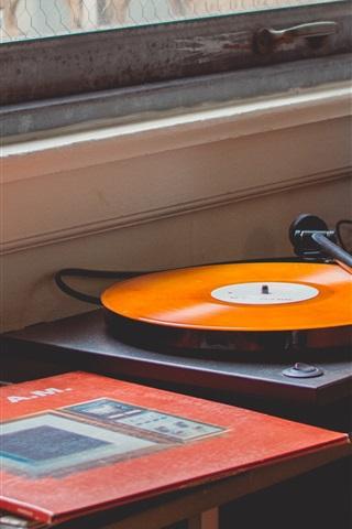 iPhone Wallpaper Vinyl records player