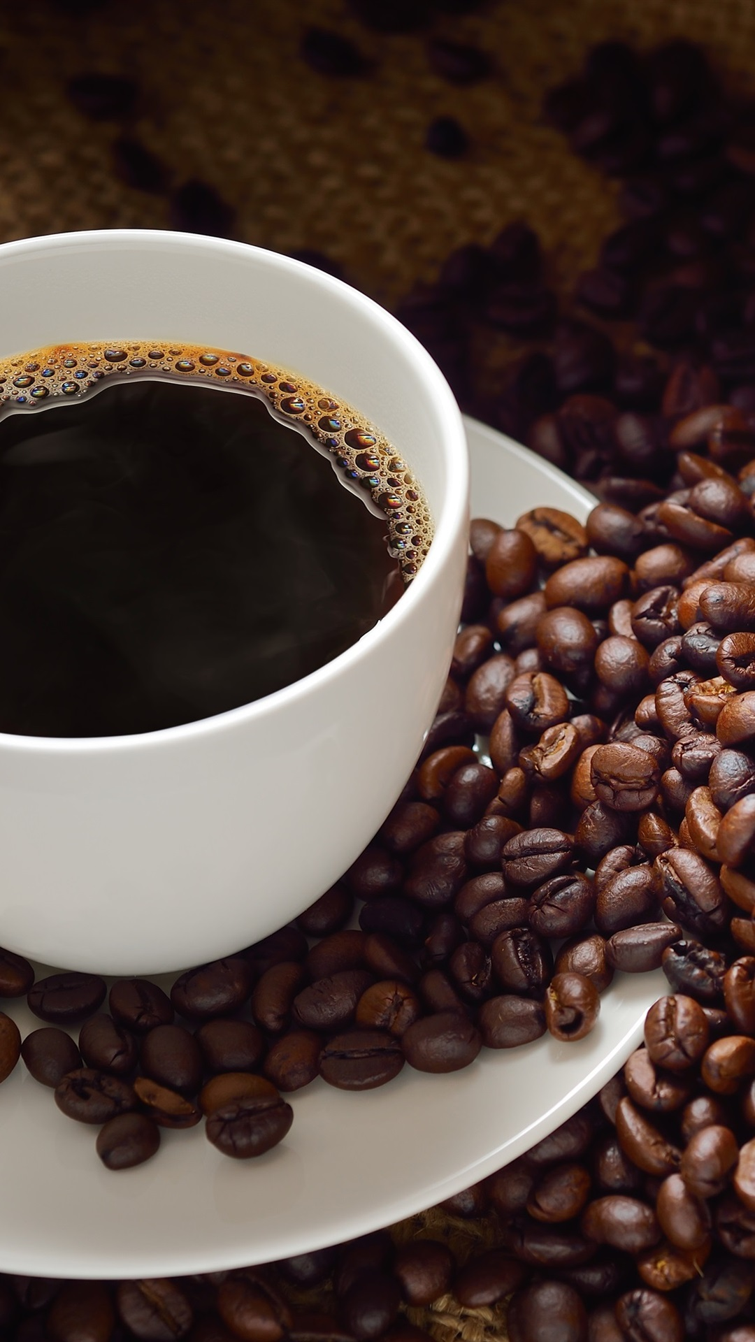 白いカップ コーヒー コーヒー豆 1080x1920 Iphone 8 7 6 6s Plus