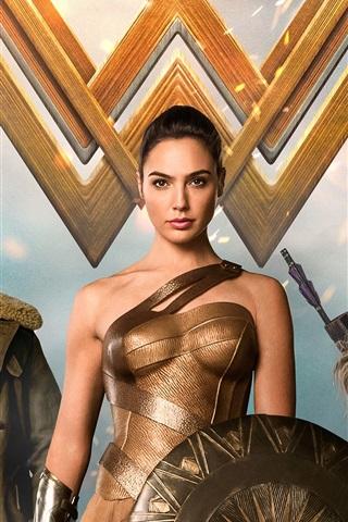 iPhone Wallpaper Wonder Woman, Marvel movie 2017