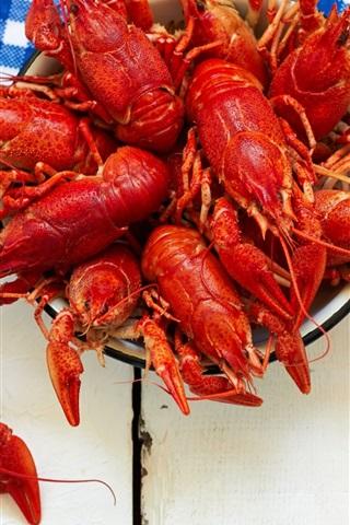 iPhone Wallpaper Appetizer, lobster, beer