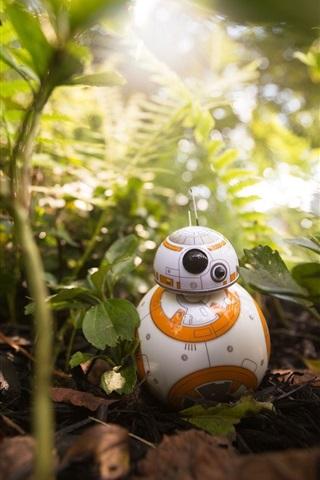 iPhone Wallpaper BB8 robot, plants, toy, Star Wars