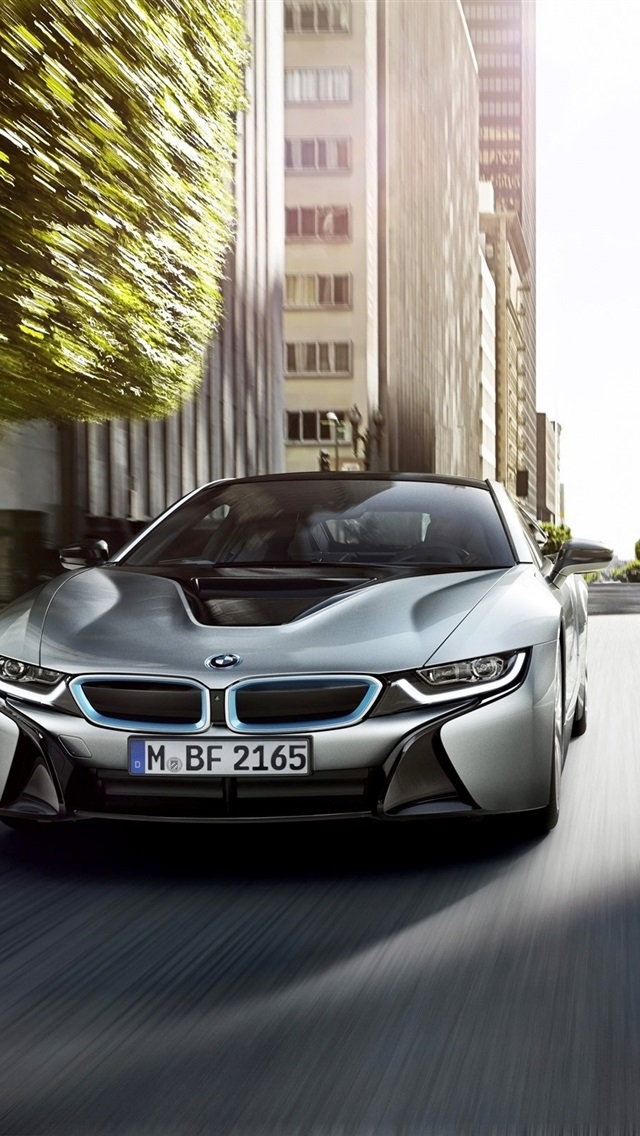 Bmw I8 Silver Car Front View 750x1334 Iphone 8 7 6 6s Wallpaper Background Picture Image
