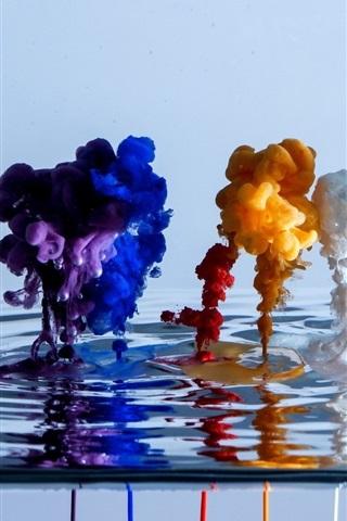 iPhone Wallpaper Beautiful watercolor colors in water