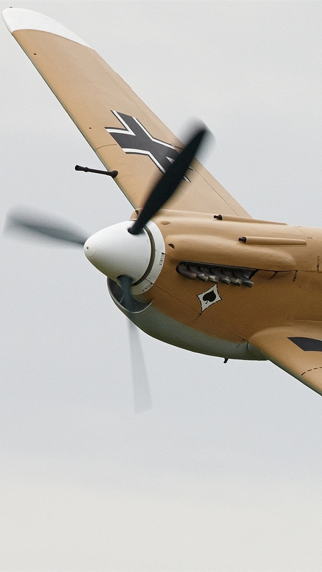Bf 109f Single Engine Fighter German 640x1136 Iphone 5 5s