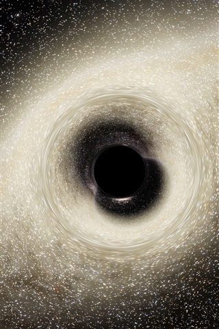 iPhone Wallpaper Black Hole, space, power