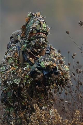 Camouflage Binoculars Soldier 640x1136 Iphone 55s5cse