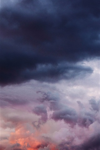 iPhone Wallpaper Cloudy sky, thick clouds