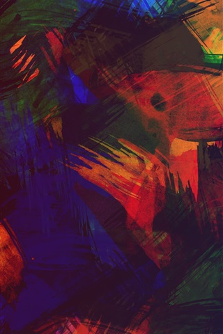 iPhone Wallpaper Colorful abstract picture, paint, texture