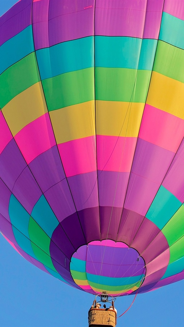 Colorful Hot Air Balloon Flight Sky 640x1136 Iphone 5 5s 5c