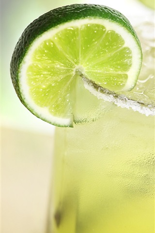 iPhone Wallpaper Cool drinks, glass cups, lemon slice