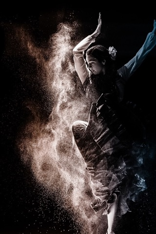 iPhone Wallpaper Dancing girl, dust