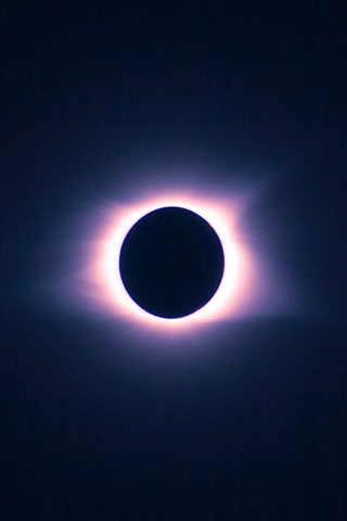 iPhone Wallpaper Dark sky, eclipse, moon, sun