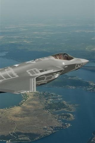 iPhone Wallpaper F-35 bomber flight, Lightning II
