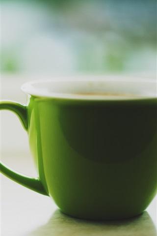 iPhone Wallpaper Green cup, tea
