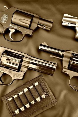 iPhone Wallpaper Guns, bullet, weapon