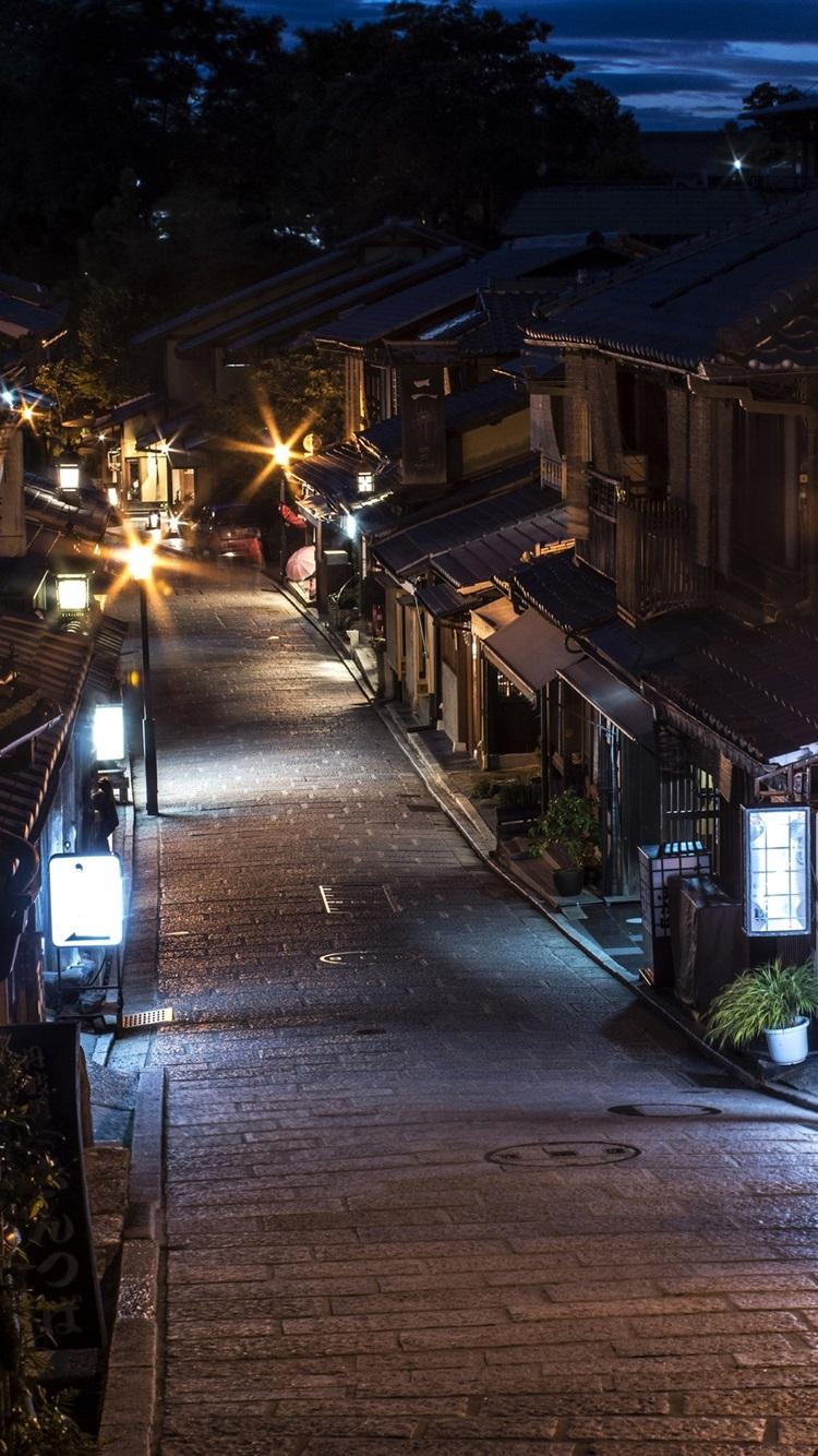 Japan Kyoto Street Night Lights Old Town 1080x1920