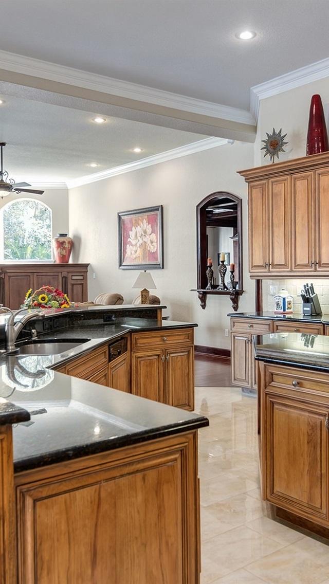Diseño de cocina, muebles, estilo retro 640x1136 iPhone 5/5S ...
