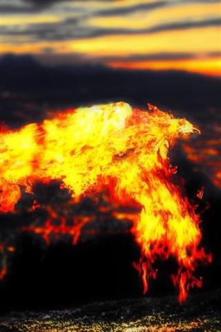 iPhone Wallpaper Lava phoenixes