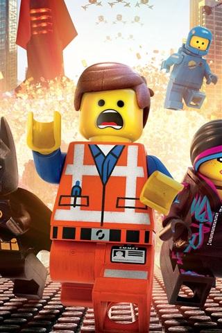 iPhone Wallpaper Lego movie, heroes, city