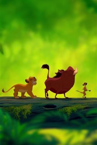 iPhone Wallpaper Lion King, cartoon movie
