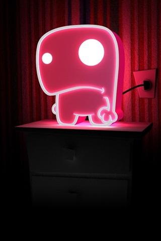 iPhone Wallpaper Neon light, pink, dark