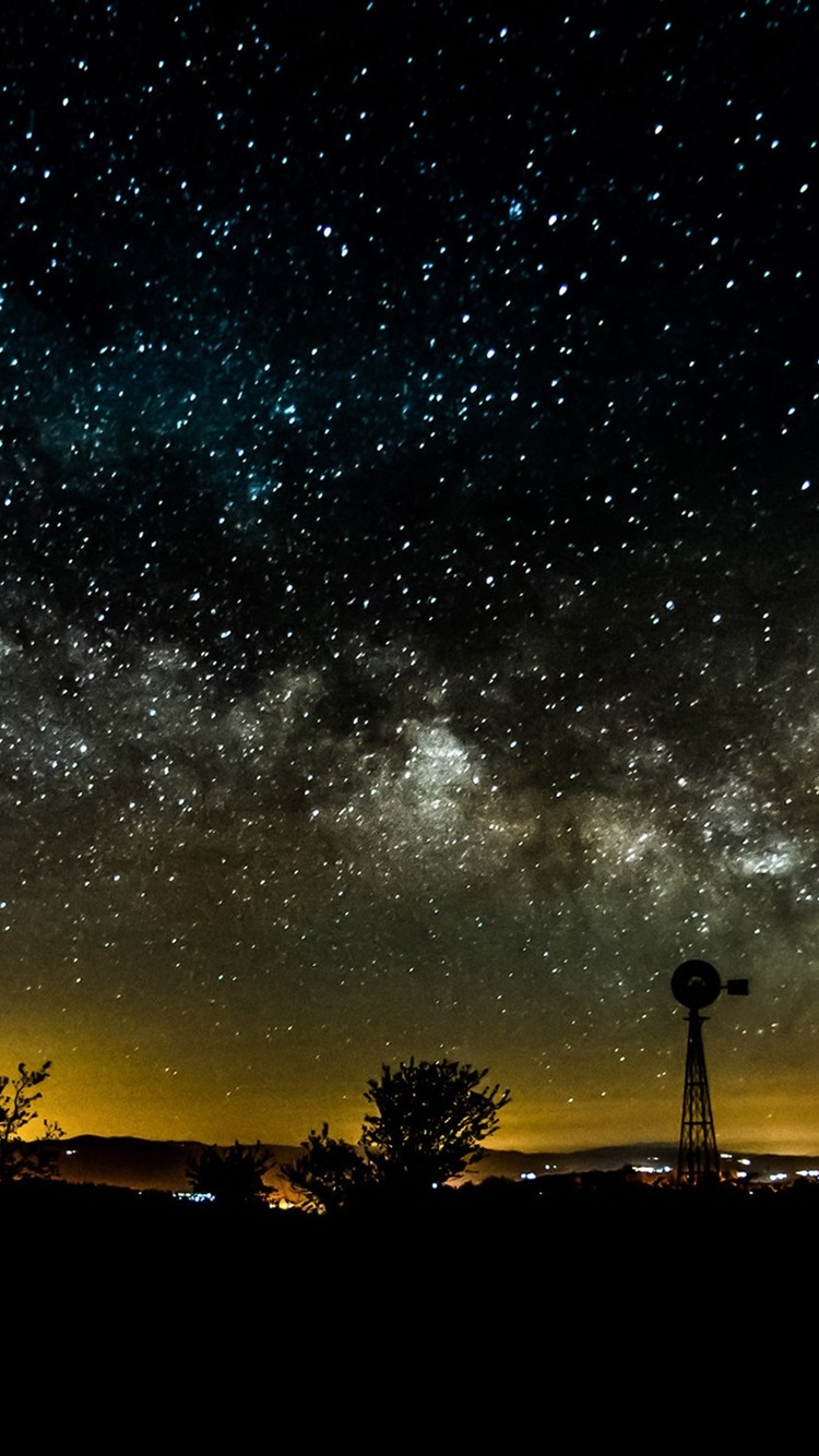 Night Sky Stars Starry 750x1334 Iphone 8 7 6 6s Wallpaper