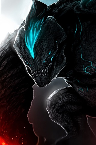 iPhone Wallpaper Pacific Rim, monster, art picture