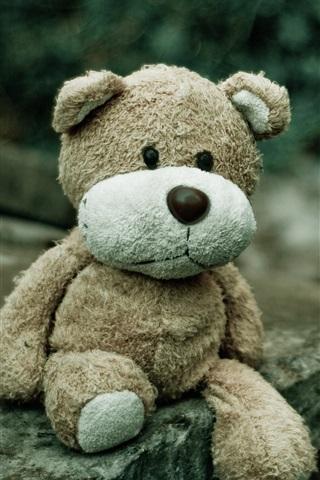 iPhone Wallpaper Sadness teddy bear, toy