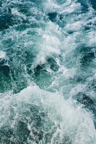 iPhone Wallpaper Sea, waves, water splash
