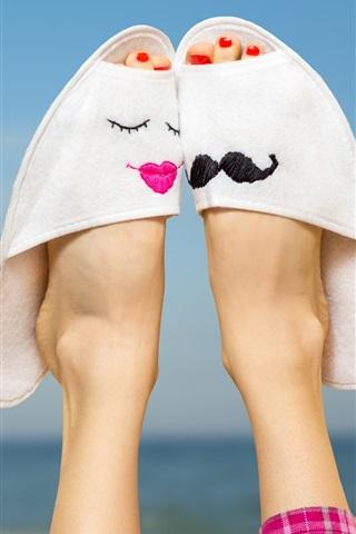 iPhone Wallpaper Slippers, feet, creative