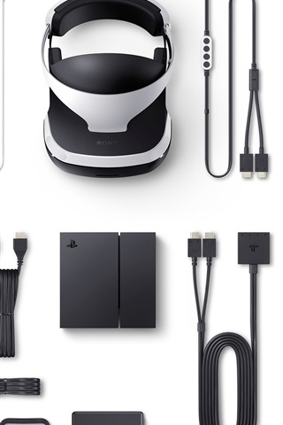 iPhone Wallpaper Sony PlayStation VR packing list
