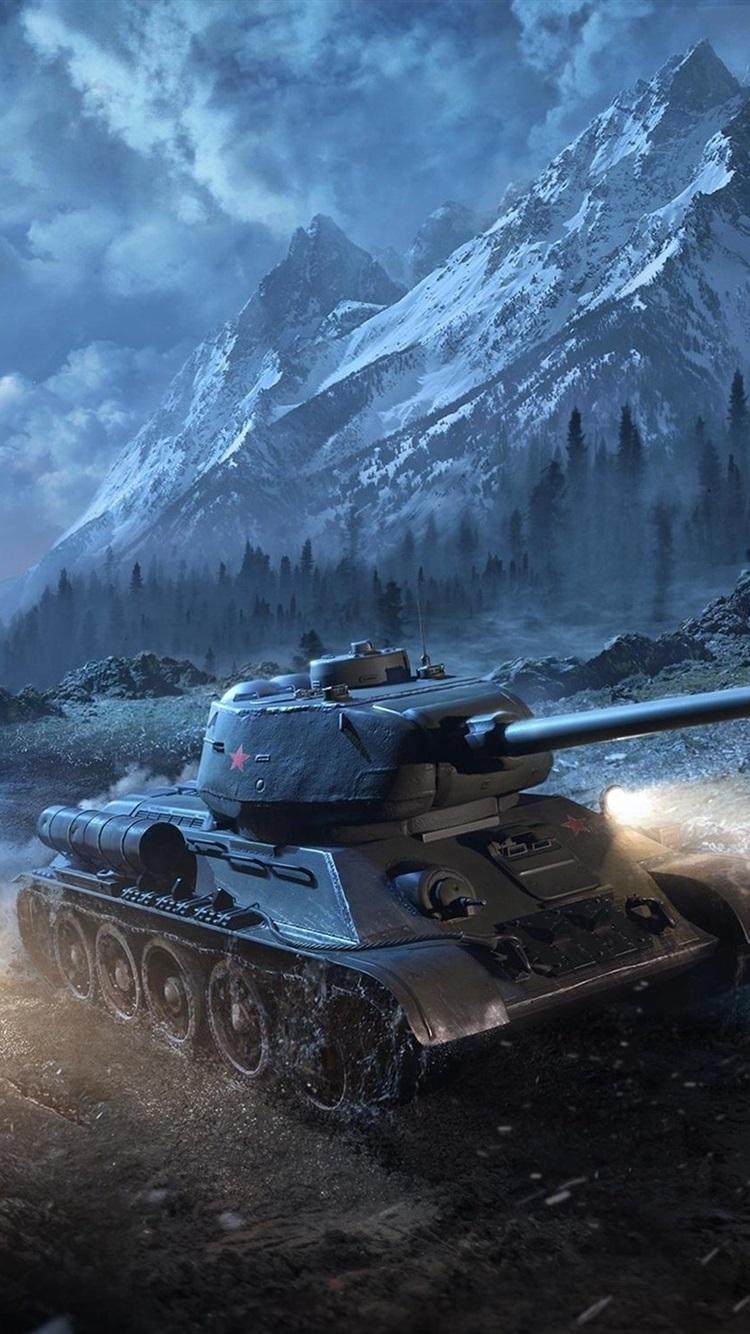T 34 85 Tanks At Night World Of Tanks 750x1334 Iphone 8 7 6