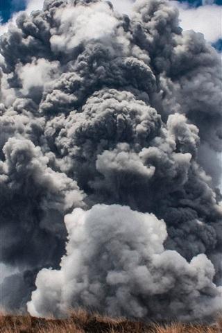iPhone Wallpaper Tornado, atmospheric whirlwind, cumulonimbus cloud, nature landscape
