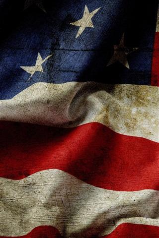 iPhone Wallpaper USA flag, dust