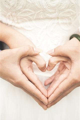 iPhone Wallpaper Wedding, love hearts, hands