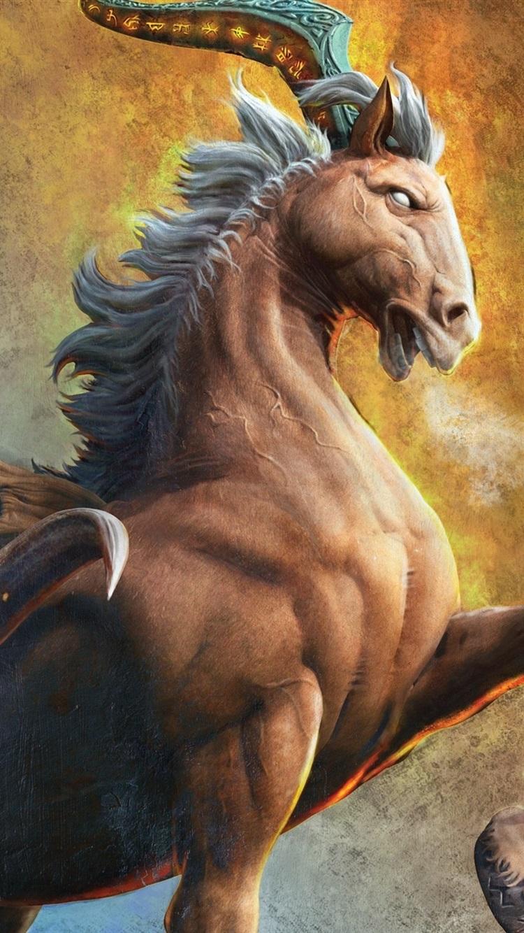 Wallpaper Animals Fiction Hooves Horns Horse Monster