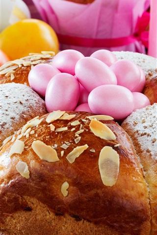 iPhone Wallpaper Bread, eggs, Easter