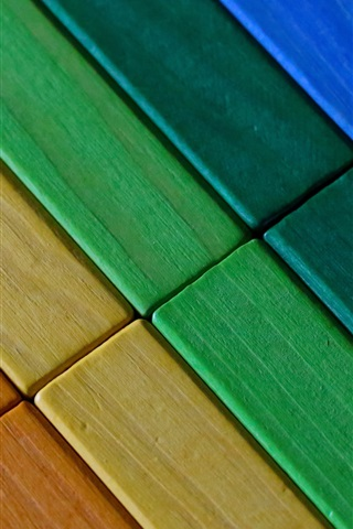iPhone Wallpaper Colorful wood background, texture