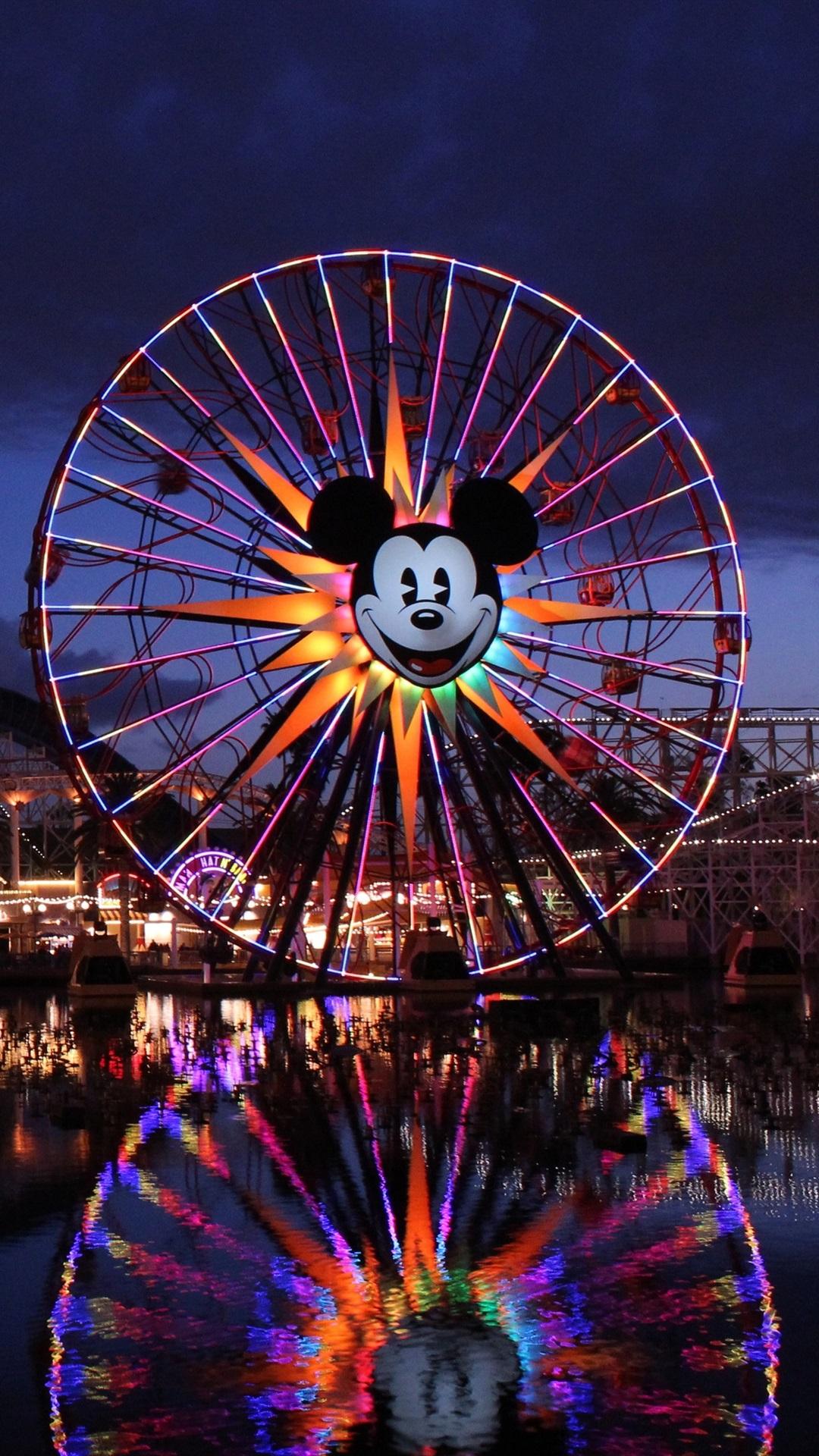 Disney California Adventure Paradise Pier Roller Coaster Ferris