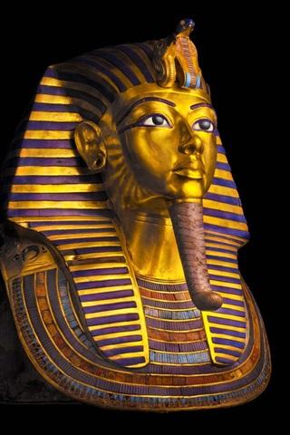 iPhone Wallpaper Egypt, Cairo Museum, Pharaoh, Tutankhamun mask, black background
