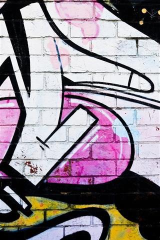 iPhone Wallpaper Graffiti wall, colors, bricks