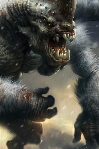 iPhone Wallpaper Huge monster, art picture