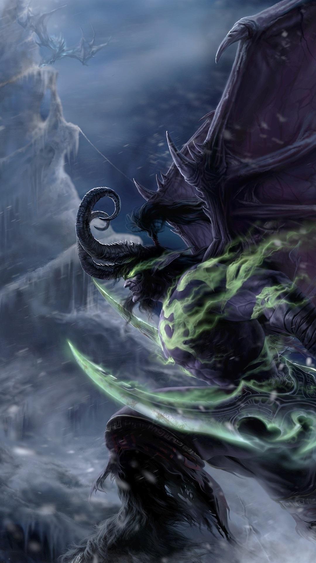 Wallpaper illidan stormrage warcraft demon elf art - Demon wallpaper 4k ...