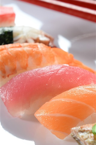 iPhone Wallpaper Japanese cuisine, sushi, meat, food