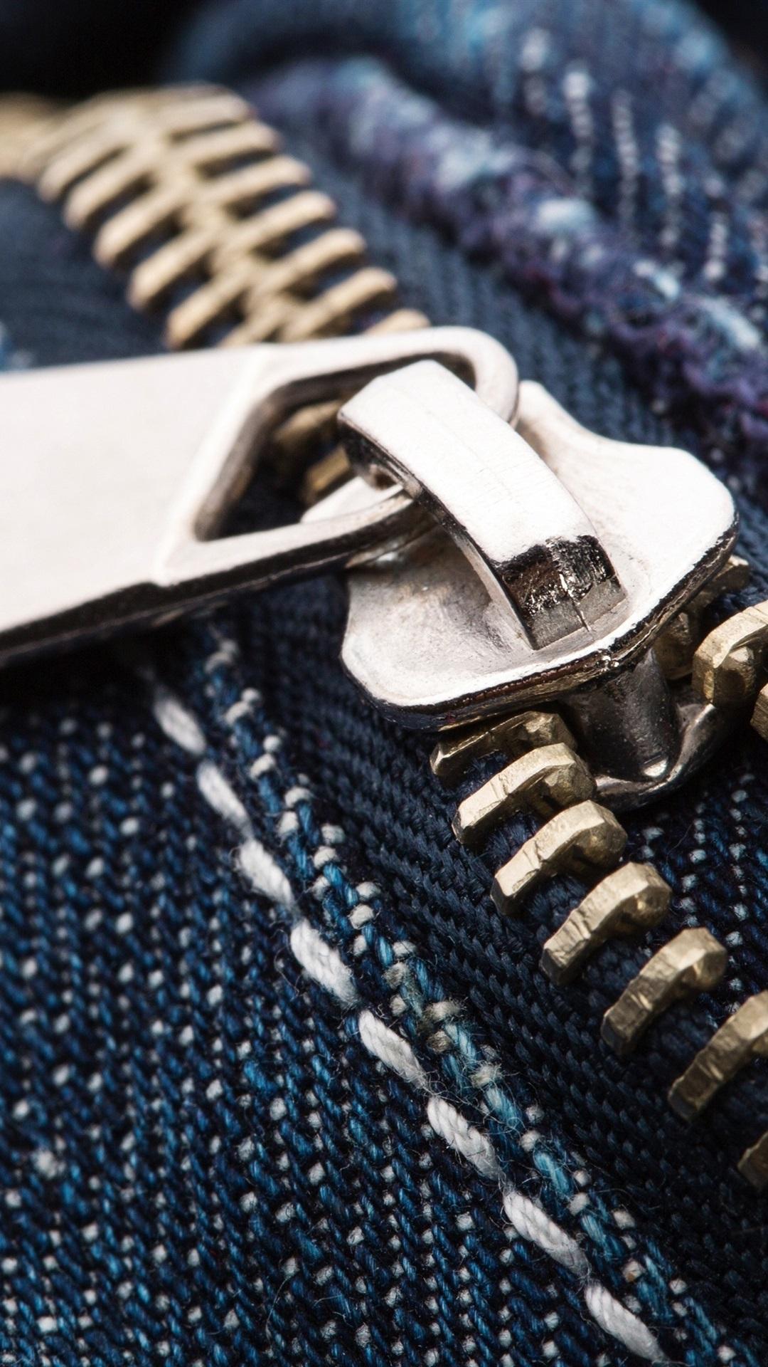 Jeans, metal zipper 1080x1920 iPhone 8