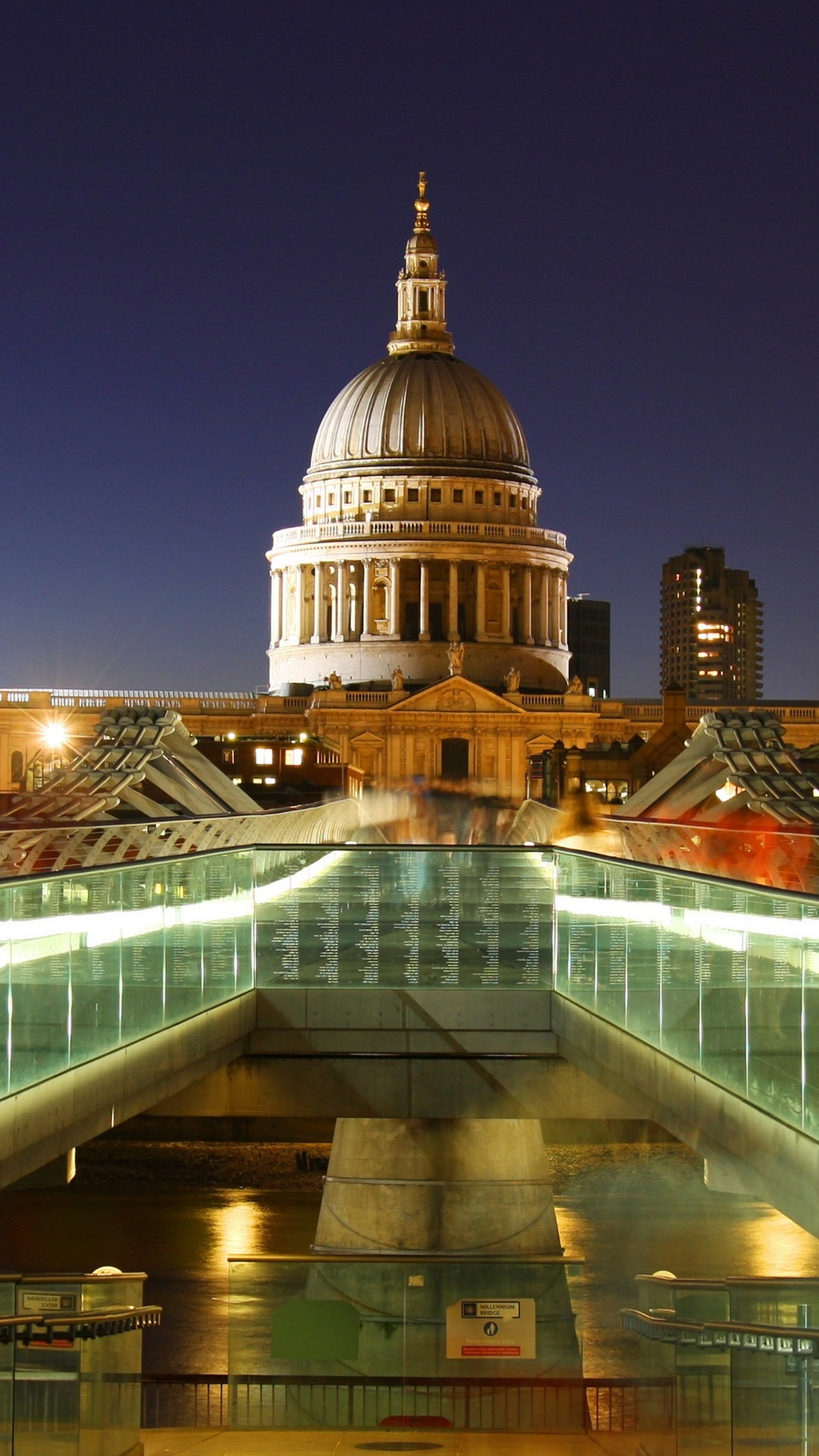 London England Capital St Paul S Cathedral Lights