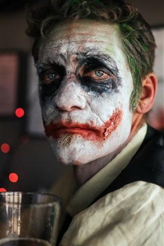 iPhone Wallpaper Mask, clown